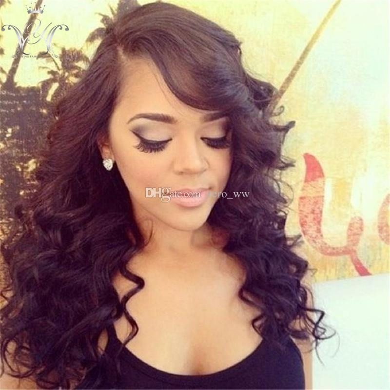 human hair wigs front lace human hair wigs for black women curly Peruvian lace front wigs full head no tangle