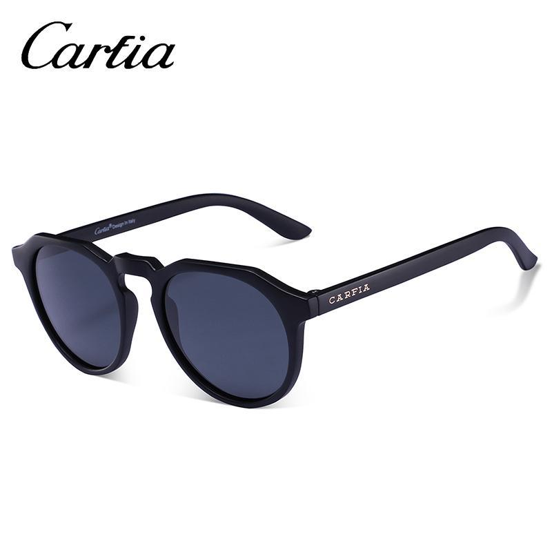 ecab0dc8b2a2f Compre CARFIA Marca Unisex Retro Oval Óculos De Sol Para Homens E Mulheres  Polarizada Novo Quadro De Moda De Alta Qualidade TR90 Homens   Mulheres  Óculos De ...