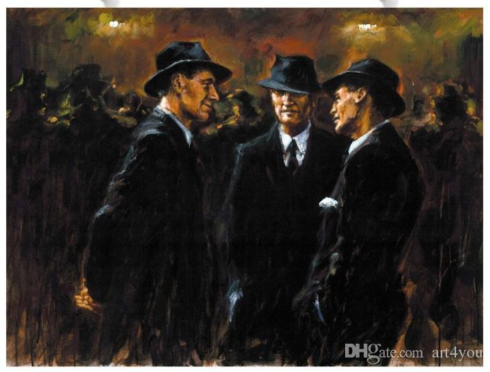 High Quality Handpainted & HD Print Gathering At Las Brujas Fabian Perez Portrait Art Oil Painting Home decor On Canvas Multi sizes p89