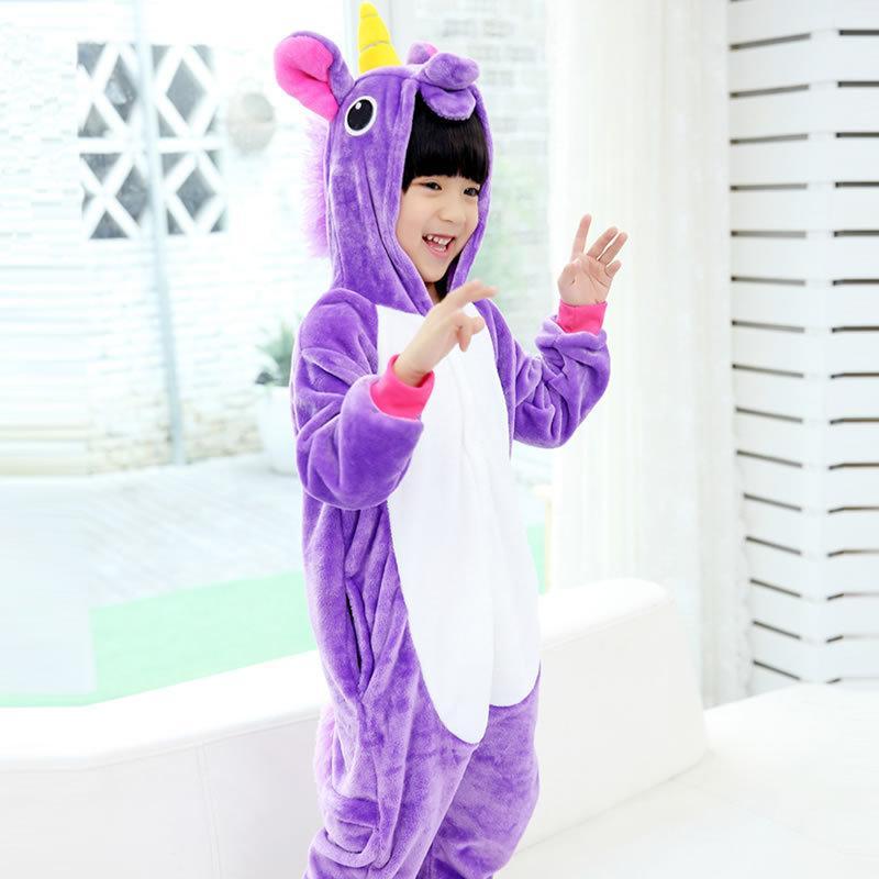 9c702a182 EOICIOI Pajamas for boys children's christmas pajamas Blue Pink Unicorn Baby  girls sleepwear warm pyjamas kids Pegasus onesie