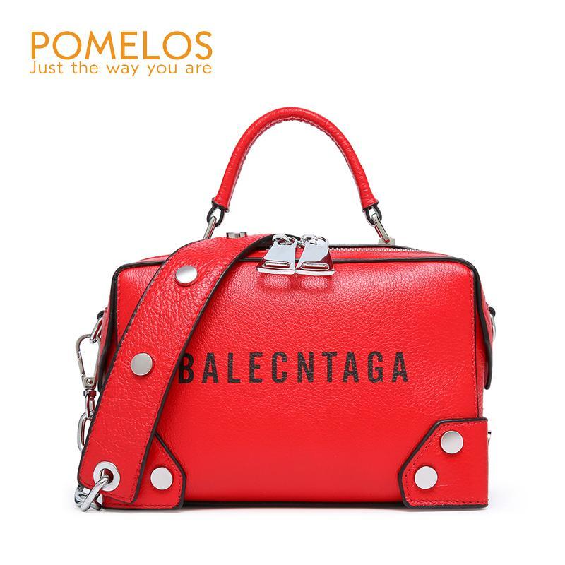 999031ed8e POMELOS Fashion Women Genuine Leather Handbags Box High Quality Crossbody  Bag Luxury Handbags For Women Bags Designer 2018 Tote Ladies Purses Handbag  ...