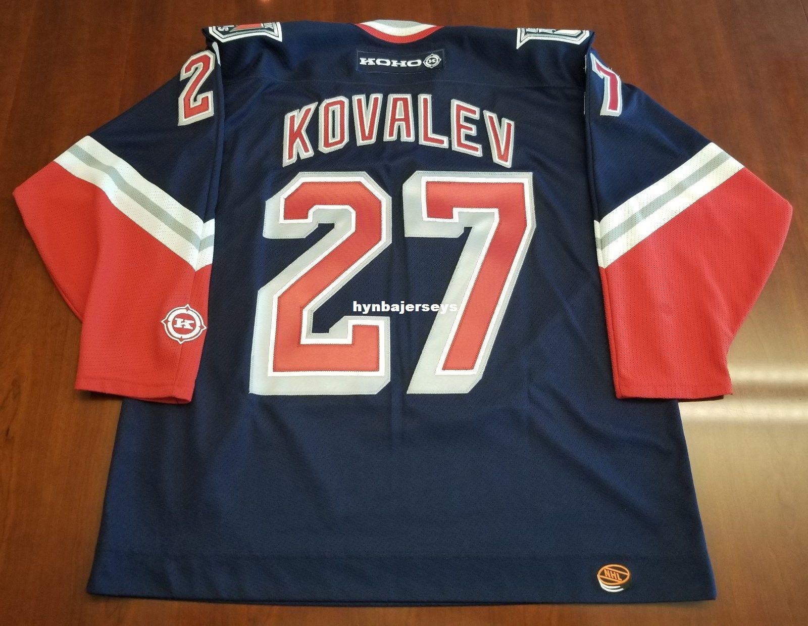 165739b97 ... coupon for custom alex kovalev vintage new york rangers koho cheap  hockey jersey lady liberty mens