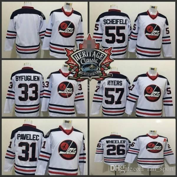 best loved ace08 75300 2016 Heritage Classic Winnipeg Jets 33 Dustin Byfuglien 55 Mark Scheifele  26 Blake Wheeler 57 Tyler Myers 31 Ondrej Pavelec Hockey Jerseys