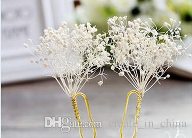 2018 Bridal Hair Accessories New Fashion Hair pins Flower Hair clips Stick Pearl Beaded Hairpin Wedding Headpiece Real Photos Hot Sales