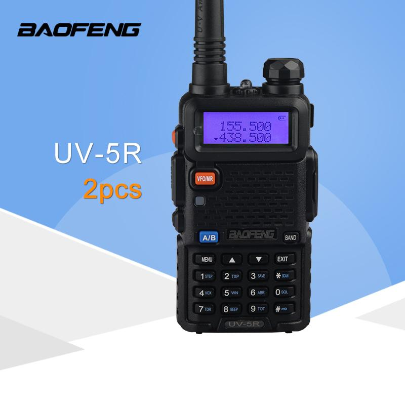 128ch Dualband Vhf 136-174 Mhz & Uhf 400-520 Mhz Talkie Walkie Transceiver Zweiwegradio Tragbare Handheld Wasserdichte Taschenlampe Sicherheit & Schutz Audio Intercom