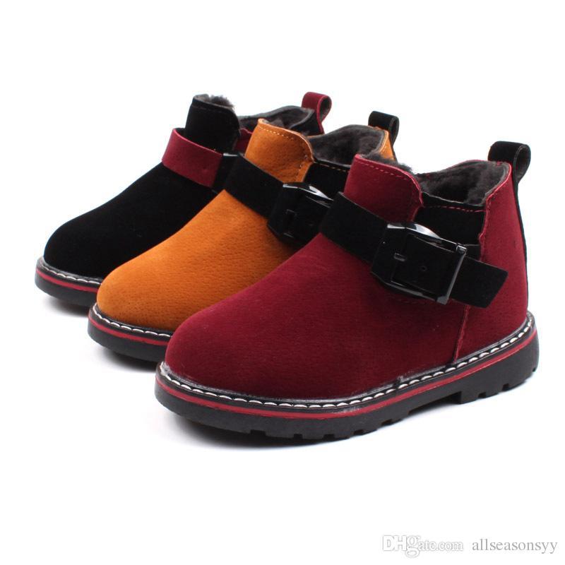 new product 47245 43866 Acquista Inverno Bambini Ragazzi Ragazze Scarpe Giallo Rosso Nero Bambini  Tenere Stivali Caldi Euro Taglia 21 30 Bambino Toddler Scarpe Casual A  $19.29 Dal ...