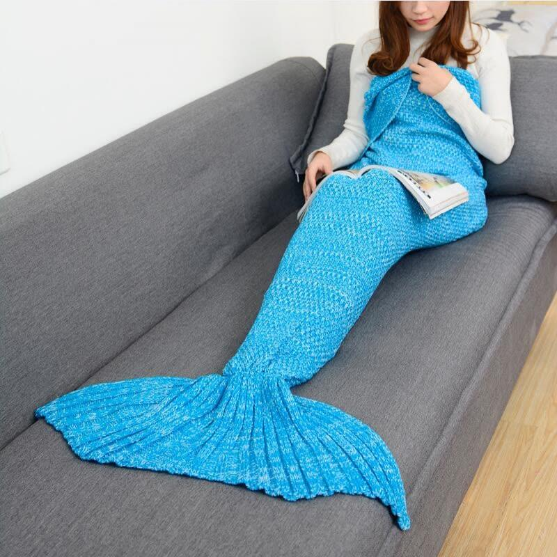 Großhandel Mermaid Tail Decke Häkeln Meerjungfrau Decke Für