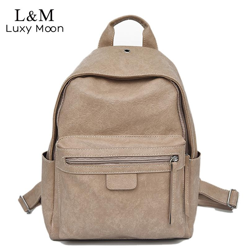 7f273e093a46 Women Backpacks 2018 Fashion Causal Leather School Bags Rivets Shoulder Bag  Large College Student Backpack Girls S XA536H Cute Backpacks Hiking Backpack  ...