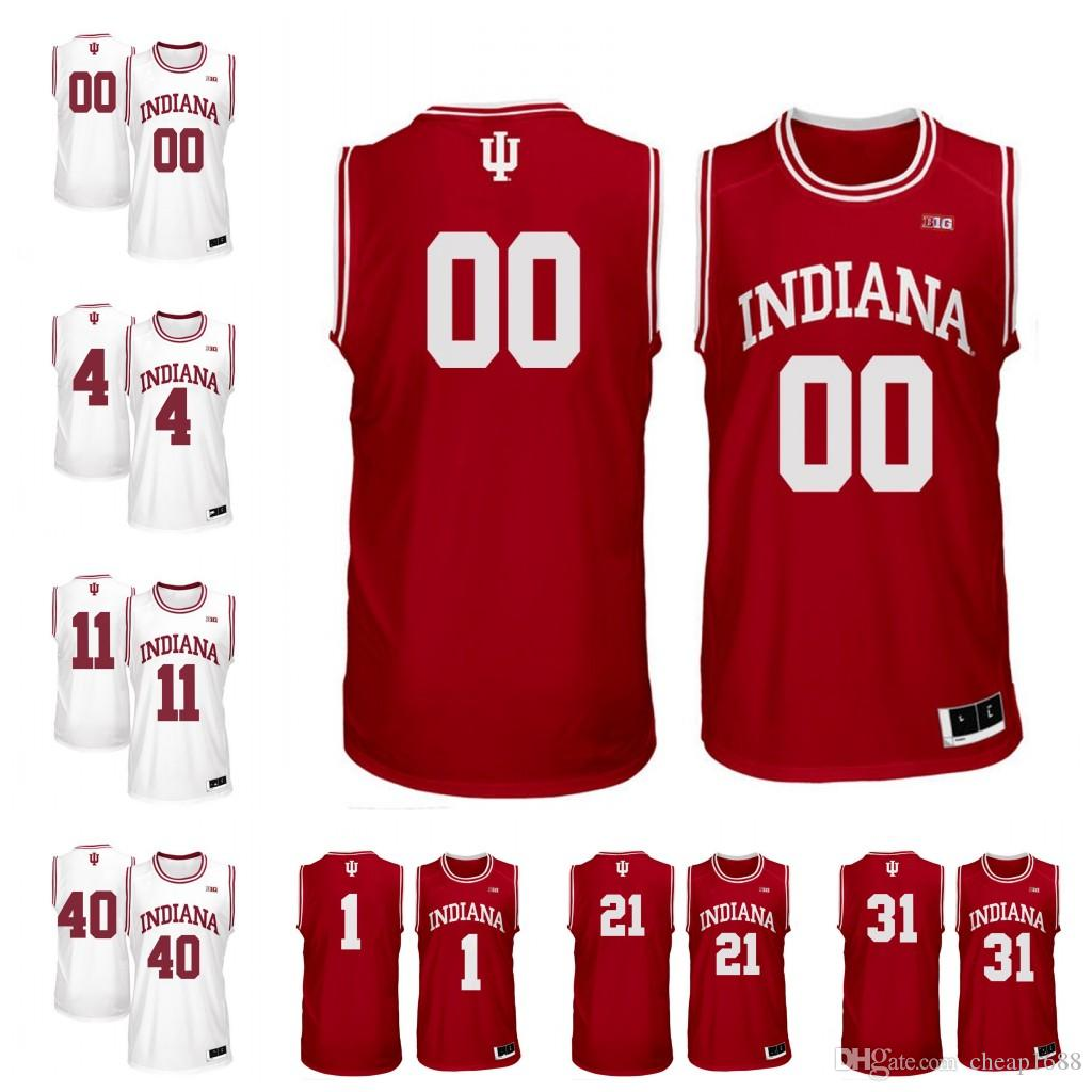 c0d7205f78c shop hoosiers 40 cody zeller red basketball stitched ncaa jersey 94faf 115e6