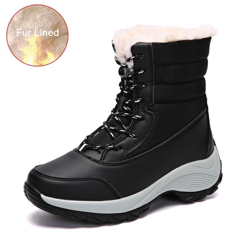 separation shoes e0a12 b695a YRRFUOT Stivali da neve invernali da donna Trend fondo spesso antiscivolo  Mantenere caldo scarpe da studente Marca Outdoor Cold Protection Donna ...