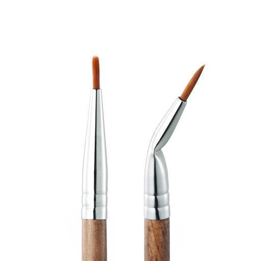 Yeni HUAMIANLI Makyaj Fırçalar Yüksek dereceli profeesional Çift başlı Eyeliner Brushe Ithal Fiber Yüksek Sınıf Renk Kutusu Bakır Boru Toptan