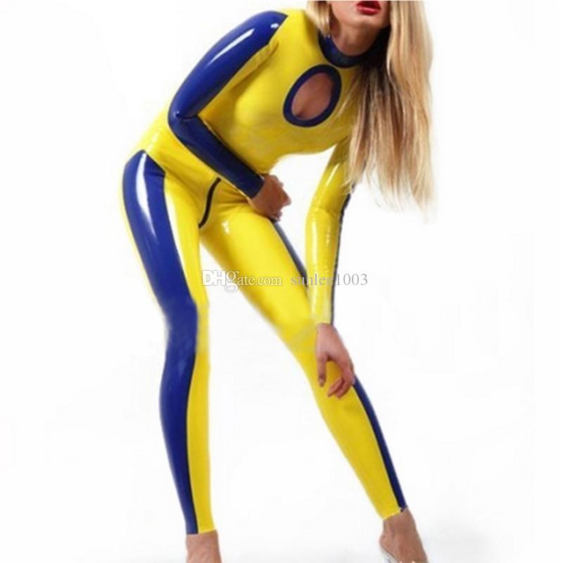 2018 New hot exotic handmade female women Sexy Latex Catsuits Bodysuit Jumpsuit Latex Fetish Uniform tight lingerie Costumes