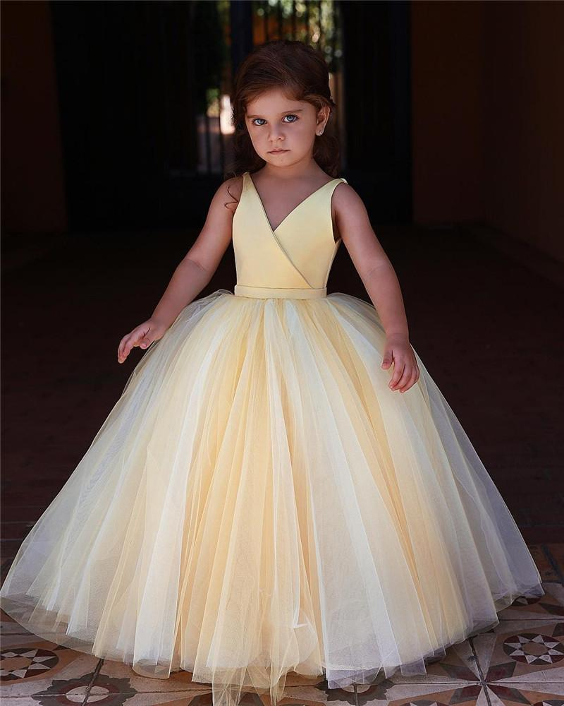 bb37fe60e0e8 Yellow Flower Girl Dresses For Toddlers For Sale - Aztec Stone and ...