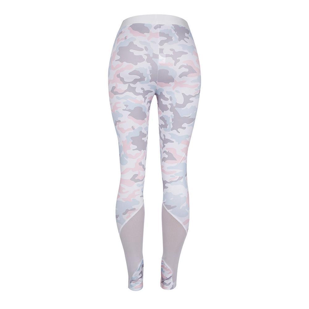 b25e3a2b3a5ca 2019 Printed See Through Mesh Sports Leggings Sports Tights Yoga Leggings  Yoga Pants Running Pants For Women From Cumax, $26.33 | DHgate.Com