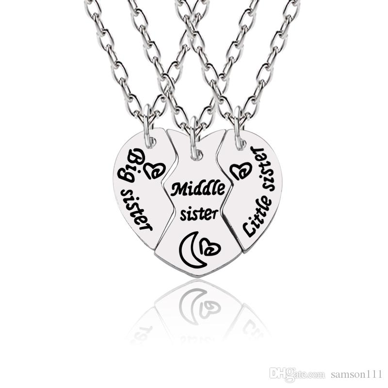 Frauen Silber Schmuck Anhänger Kette  Freundschaft Titan Liebe Herz Halskette