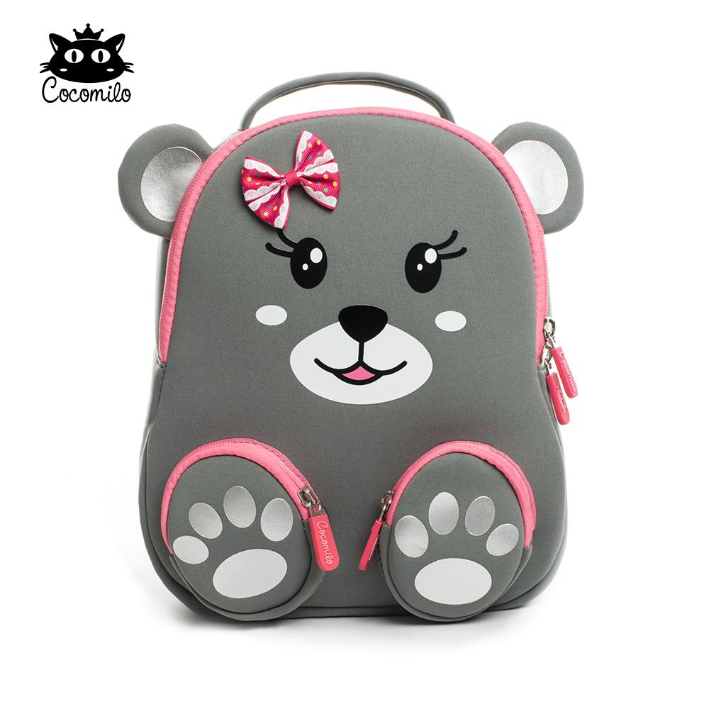 2018 Cocomilo Kindergarten Kids Animal Backpacks Waterproof Schoolbags  Satchel Boys Girls Children Cartoon Cat Bear School Bags Y18110107 Travel  Backpack ...