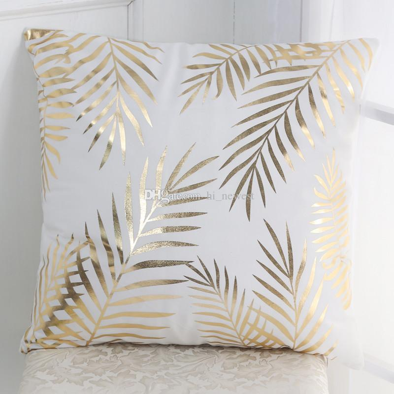 Supersoft Velvet Bronzing Pillow Cover Cushion Cover Home Decor Gold Stamp Pillow Decorative Throw Pillows Sofa LOVE H003
