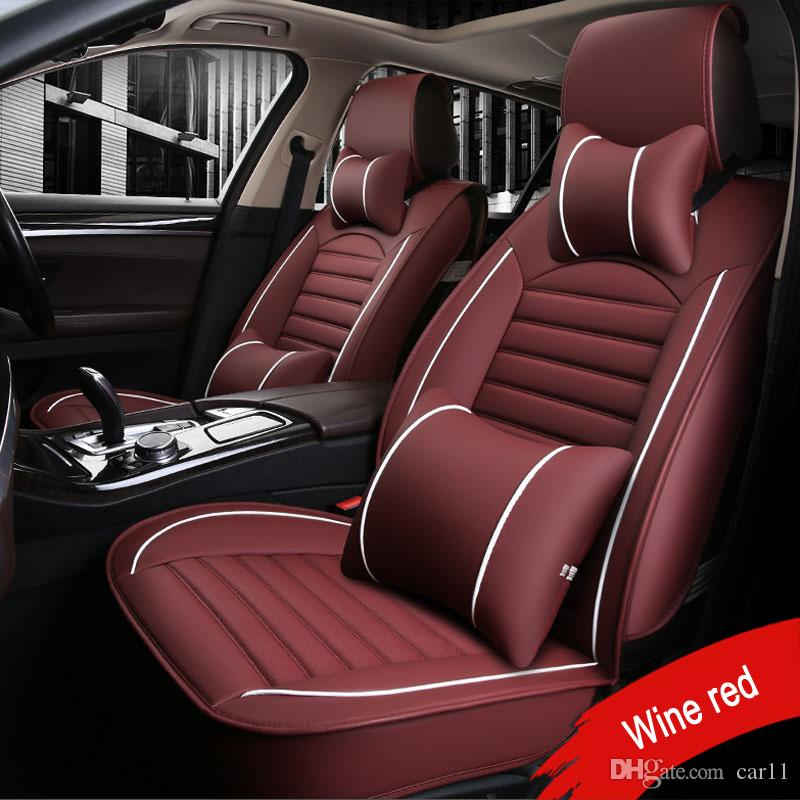 Front Rear Luxury Leather Car Seat Cover For Ford Mondeo Focus Fiesta Edge Explorer Taurus S MAX Auto Accessories Styling Best Protection From Kids