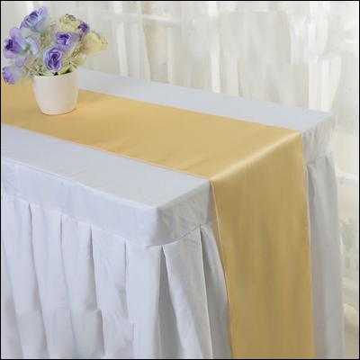 Satin Table cloth 30cm x 275cm For Wedding Party Event Banquet Home Table Decoration Supply Table Cover Tablecloth Accessories