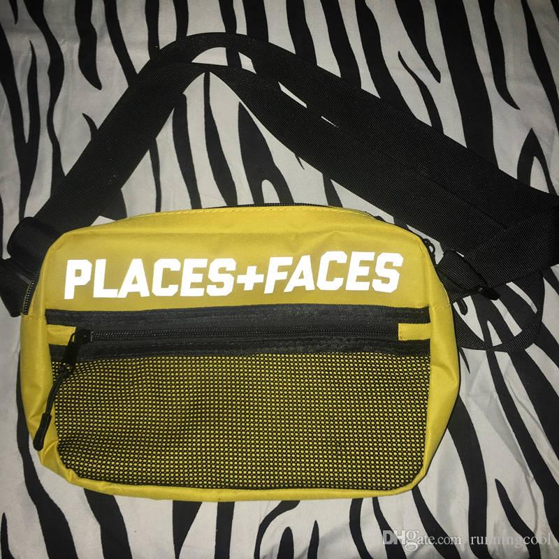 Brand New Places + Faces 3M Skateboard riflettenti Borsa P + F Message Bags Borse a tracolla Hip-hop uomo e donna Casual Mini Pack cellulari