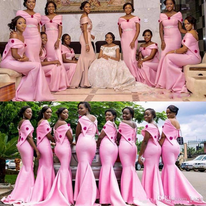 8c67bf4df8aa Acquista Splendida Rosa Abiti Da Damigella D onore Abiti Da Sposa In Raso  Plus Size Maid Of Honor Abiti Da Sposa Damigella D onore Su Misura Colore E  ...