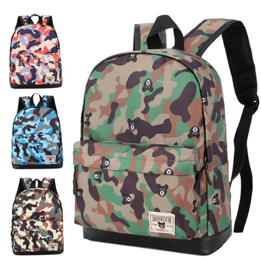 6de5853f 2018 New Children Backpack Camouflage Print School Backpack Fashion Toddler  School Bags for Kids Travel Bags feminina