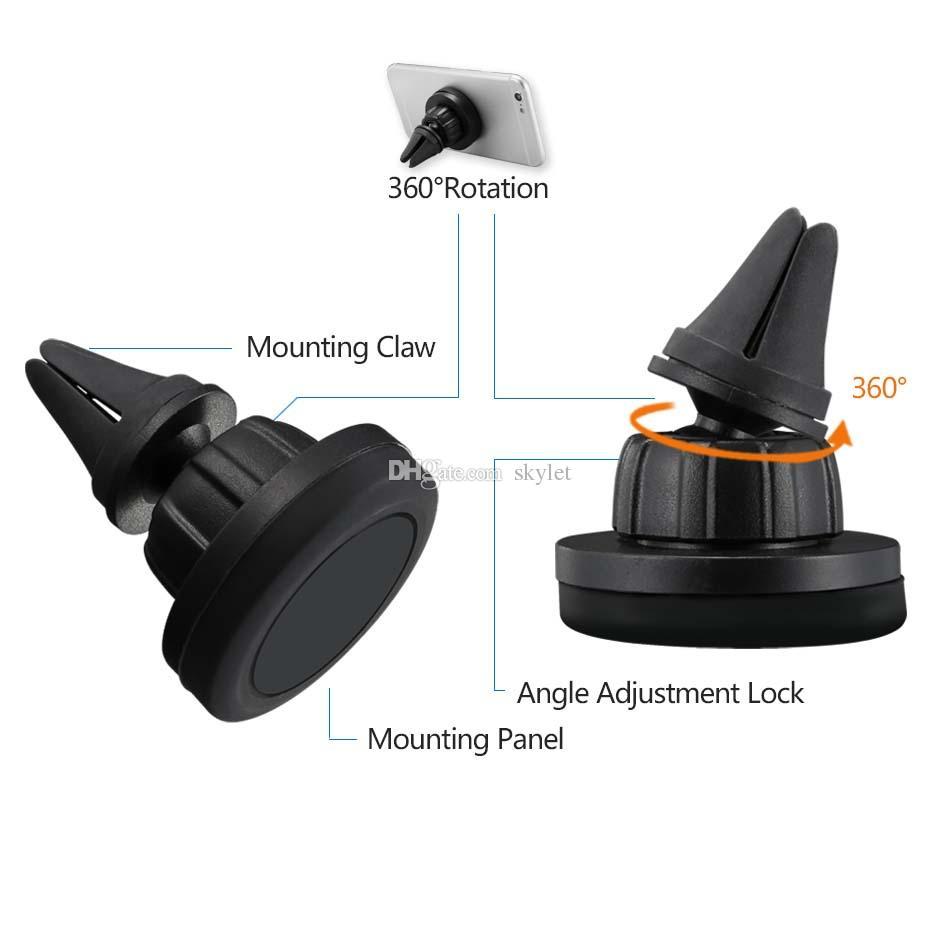 360 Grad-Umdrehung Auto-Berg-Telefon-Halter-Station Storng magnetischer Auto-Halter-einfacheres sicheres Fahren mit Kleinkasten