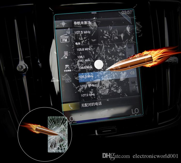 Car GPS Display Tempered Glass Screen Protector For VOLVO XC60 2018 2019