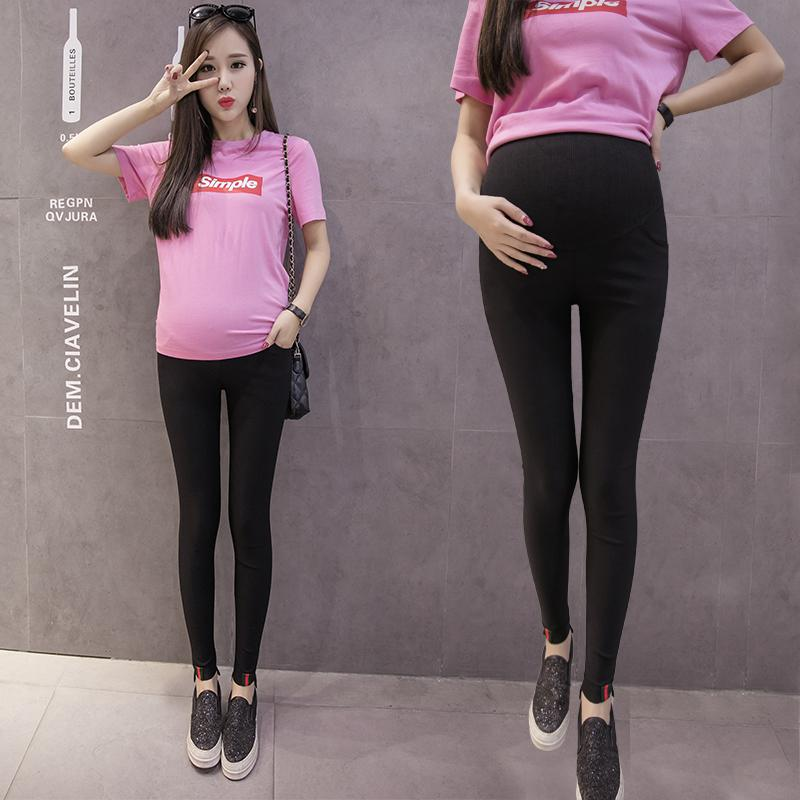 dd5610925ab35 2019 Autumn Skinny Maternity Pants High Waist Belly Pencil Trousers Clothes  For Pregnant Women Spring Pregnancy Legging Bottoms From Mingway245, ...