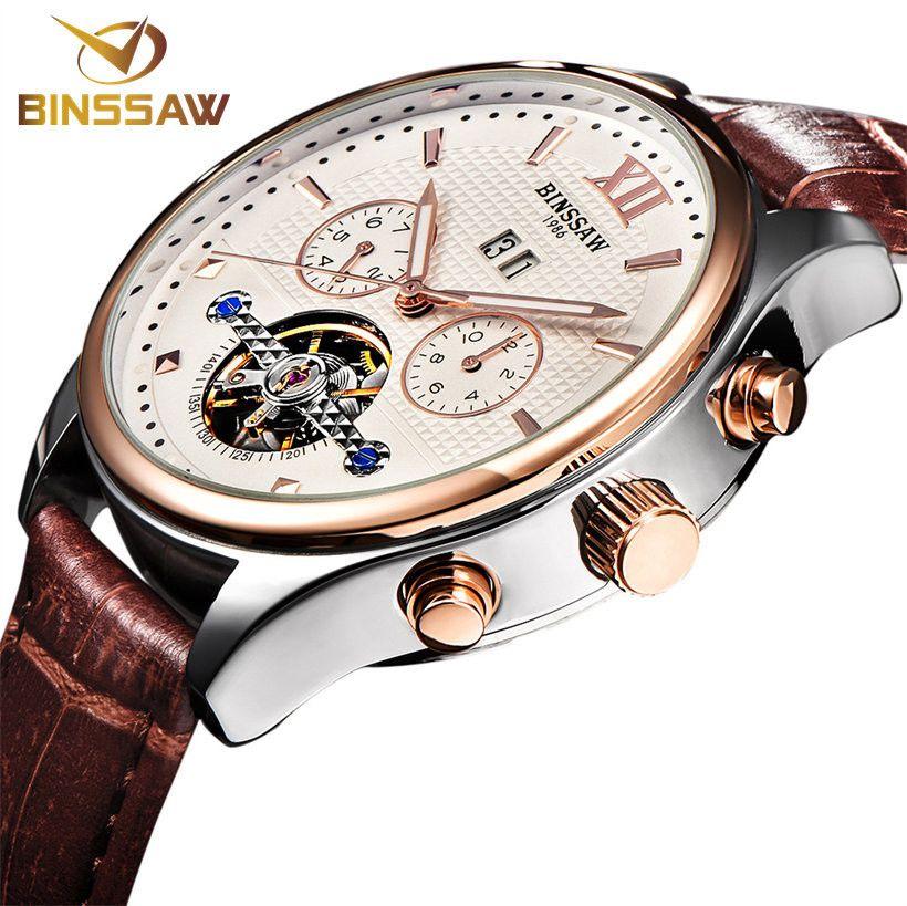 fe096965cc5b Compre BINSSAW Nuevo 2018 Hombres Reloj Moda Automática Mecánica ...
