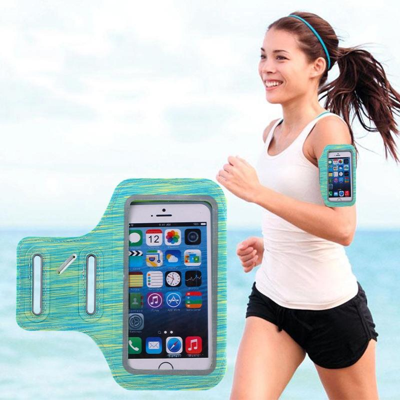Sports Running Armband Phone Holder Bag Pouch Touch Screen Access for 7 6 6S Plus for Case Universal Antifouling