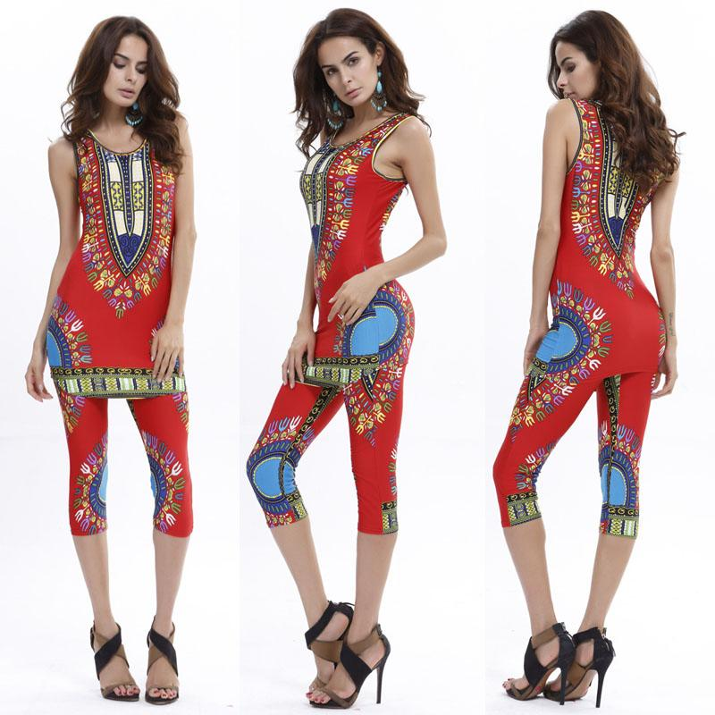 Women Summer Pants Set 2016 Fashion Floral Print Womens Tracksuits Suits Sleeveless Crop Tops And Trousers Suit