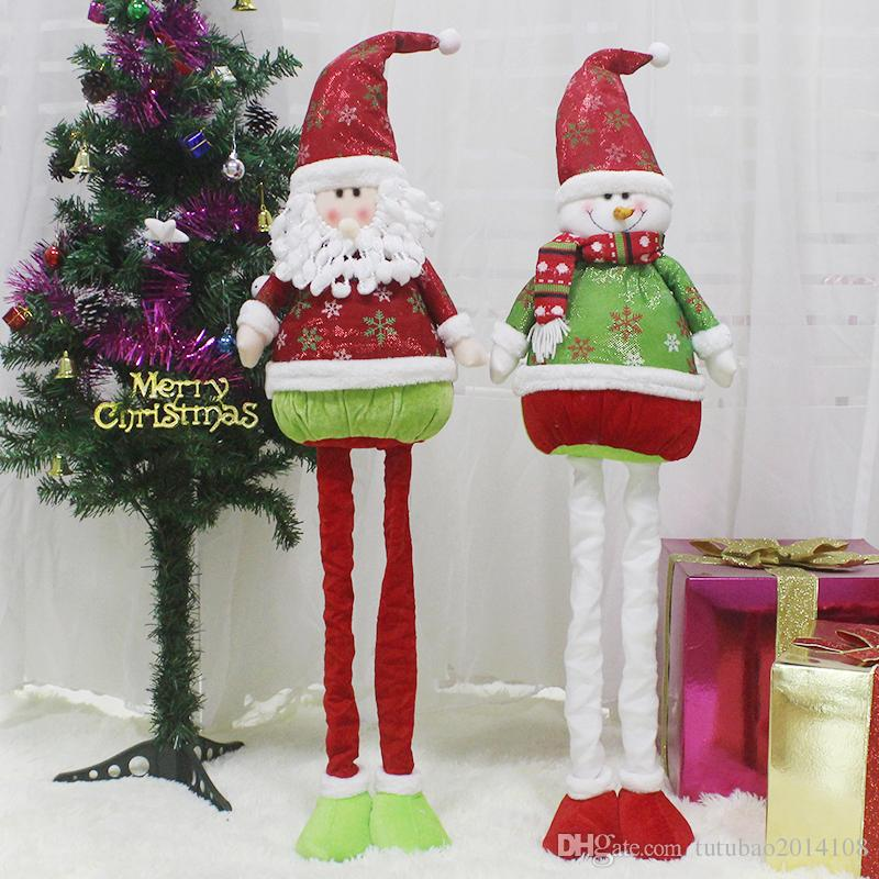 natal 2018 large christmas retractable santa claus dolls christmas decorations for home xmas decoration new year kids gift big christmas decorations outdoor - Big Christmas Decorations