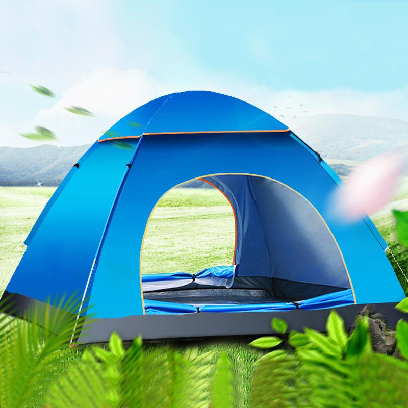 Automatic C&ing Tent 3 4 Person Family Travel Pop Up Easy Pitch Tent Waterproof 4 Season Outdoor Sunshelter Outdoor Tents Tents On Sale From Masn ... & Automatic Camping Tent 3 4 Person Family Travel Pop Up Easy Pitch ...