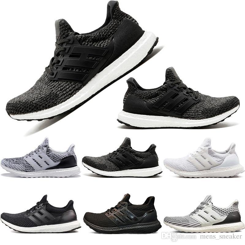 0edee9608f4cb Men Sports Shoes 3.0 4.0 Triple Black White Running Shoes Oreo Women ...