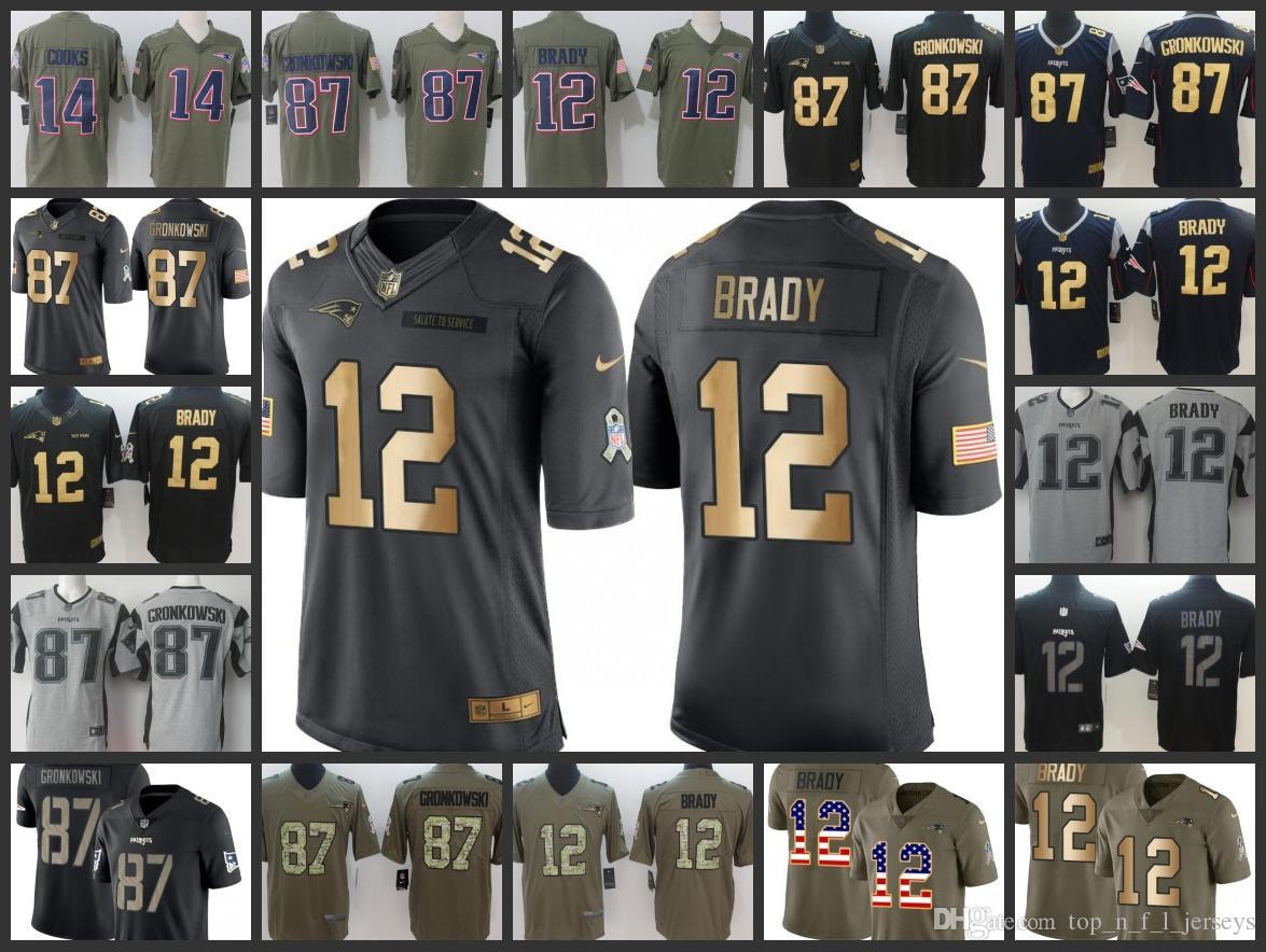 2018 Embroidery Patriots Man Jersey  12 Tom Brady 87 Rob Gronkowski 14  Brandin Cooks Women Youth Football Jerseys From Sells jersey 80b347529ec1