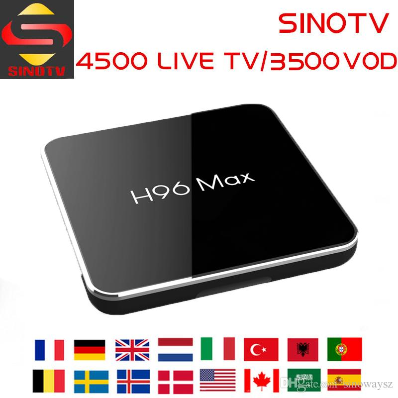 Best French H96 MAX Android 8 1 TV Box with 1 Year 4500 Arabic Canada IPTV  Live TV Smart Set Top Tv Box