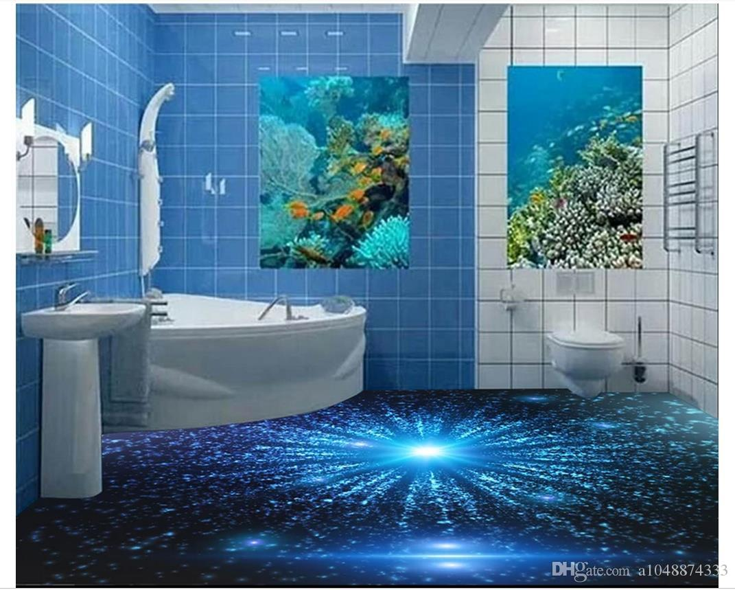 Self Adhesive 3d Wallpaper Customized 3d Floor Painting Wall Paper ...