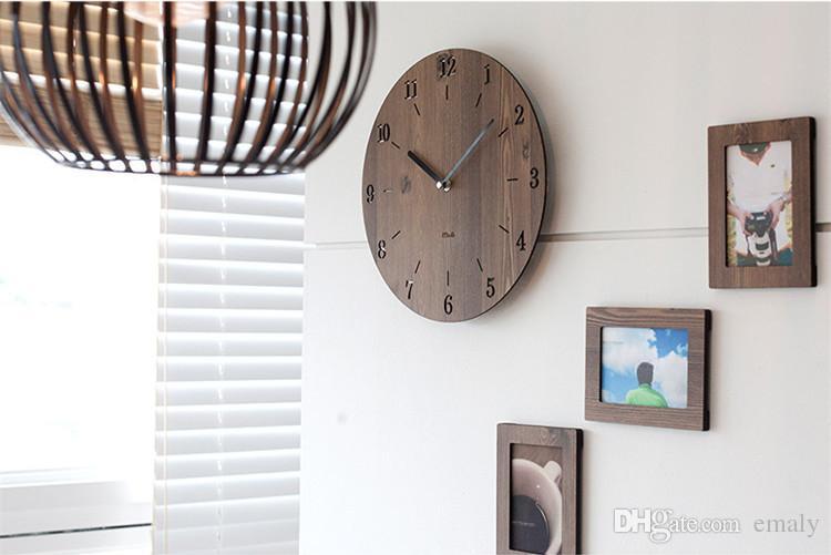 Creative Minimaliste Horloge Murale Simple Moderne De Mode Chambre ...