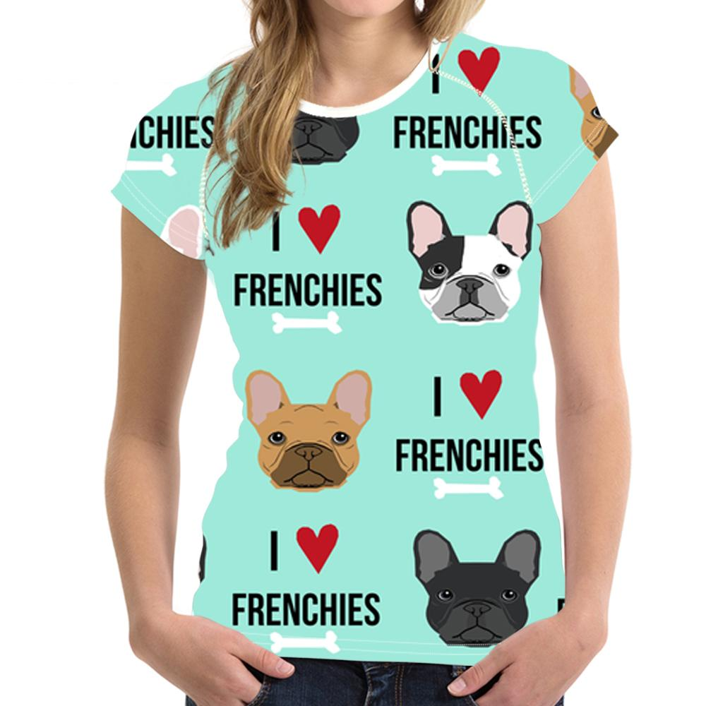 8f1b9e55ad6e Customized Funny French Bulldog Print T Shirt For Women Kawaii Puppy T Shirt  Ladies Harajuku Short Sleeve Tops For Girls Cloth Cool T Shirt Sites White  ...