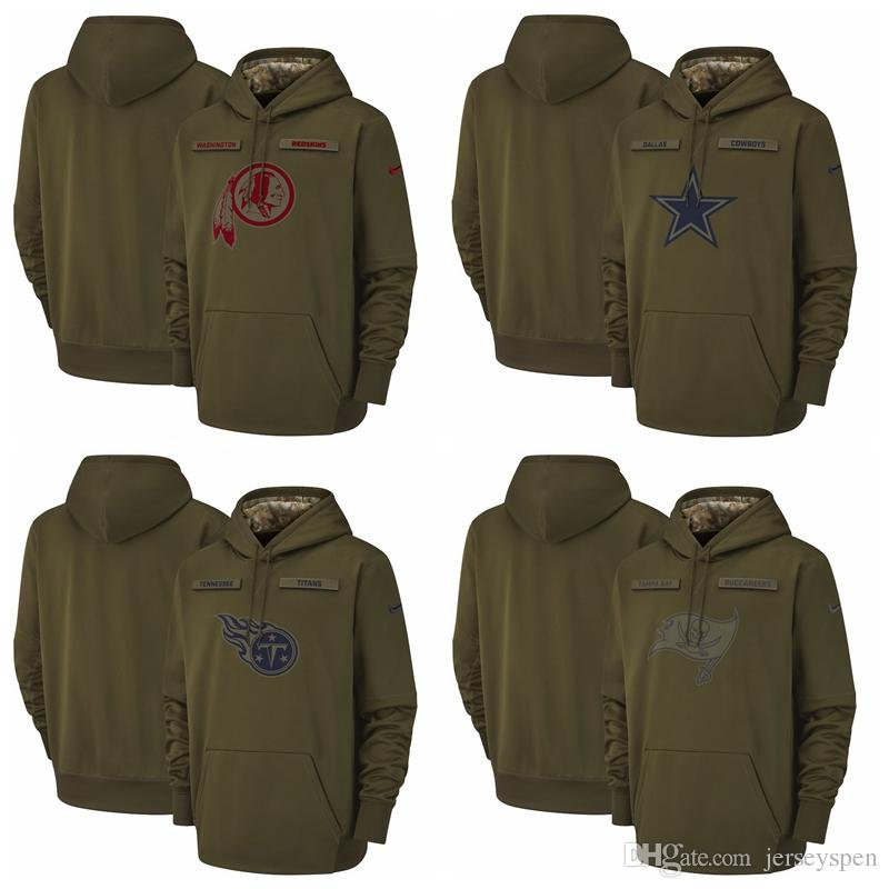the best attitude 2516e dcfc7 Washington Redskins Thumbnail Tampa Bay Buccaneers Titans Salute to Service  Sideline Therma Performance Pullover Hoodie