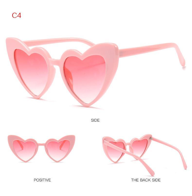 02b9d569f3 Compre Gafas De Sol Del Corazón Mujeres Diseñador Caliente Ojo De Gato  Gafas De Sol Retro Amor Gafas En Forma De Corazón Señoras Compras Sunglass  UV400 A ...