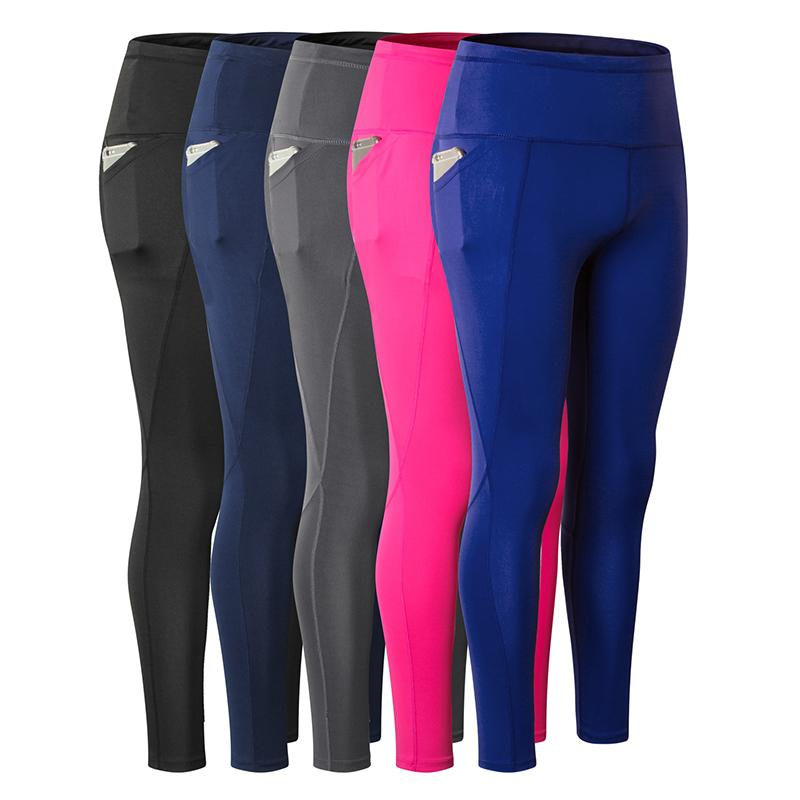9b2539f8d4fd1a 2019 Women Sexy Yoga Pants With Pockets Quick Dry Fit Sport Pants High  Elastic Fitness Gym Workout Running Tight Sport Leggings From Shanquanwat,  ...