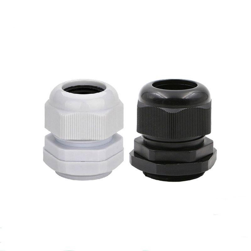 9 Pcs PG29 Black Plastic Waterproof Connectors Cable Glands