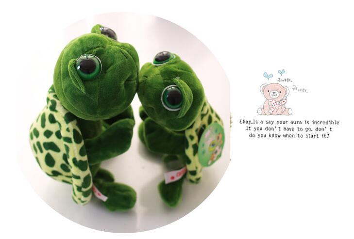 Plush turtle pillow Wholesale New 35cm Super Green Big Eyes Stuffed Tortoise Turtle Animal Plush Baby Toy Gift