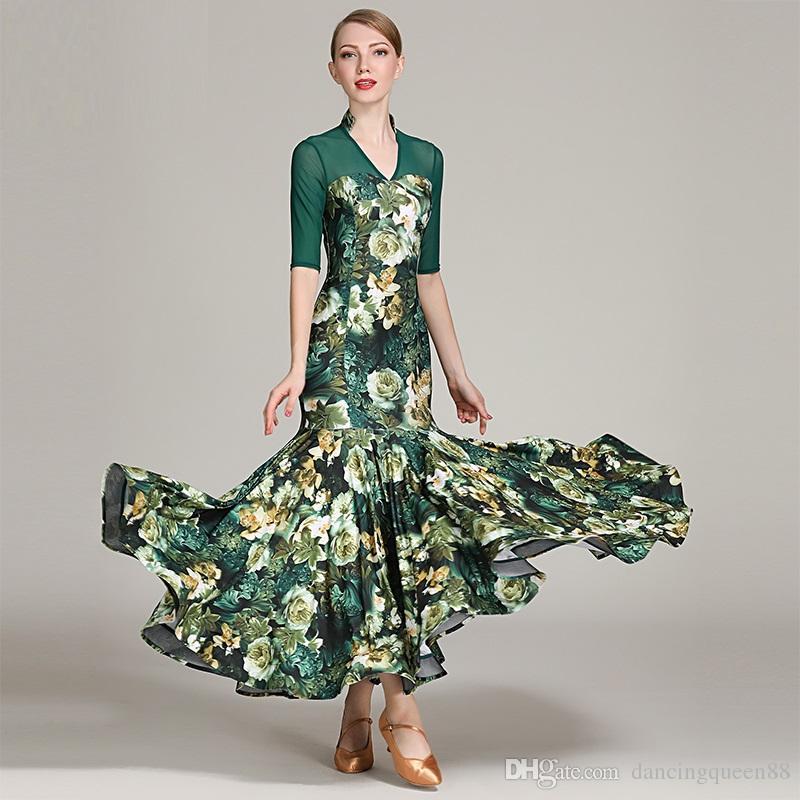 2fd807883e24 2019 2019 Waltz Dress Rumba Costumes Standard Dance Dresses Standard Social  Dress Ballroom Dance Competition Dress Fringe Dancing Clothes From ...