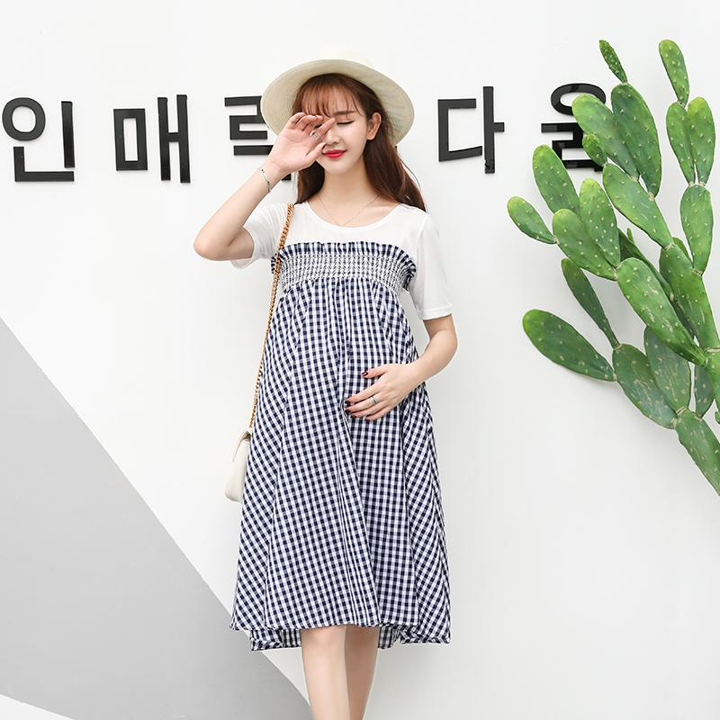 2019 2 Ways To Wear Plaid Maternity Dress Or Maternity Skirts Summer Fashion  A Line Loose Clothes For Pregnant Women Pregnancy From Mingway245 7afaa08ff5c1