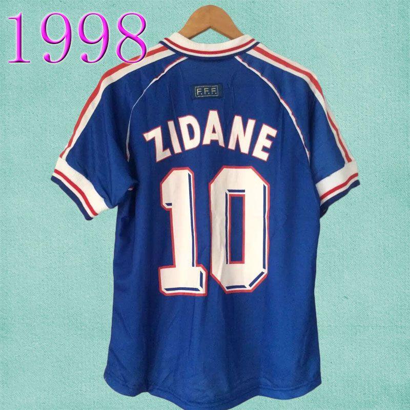 2019 1998 FRANCE 98 RETRO Soccer Jerseys Kits ZIDANE HENRY Soccer Jerseys  Uniforms Football Jersey Shirt Sports From Wholesale1819 67068e19c