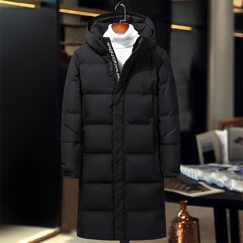 a9529b9c4e4a3d Neue ankunft herren daunenjacken schwarz grau weiß langen mantel männer  modemarke männer wintermantel hochwertigen winddicht herren daunen