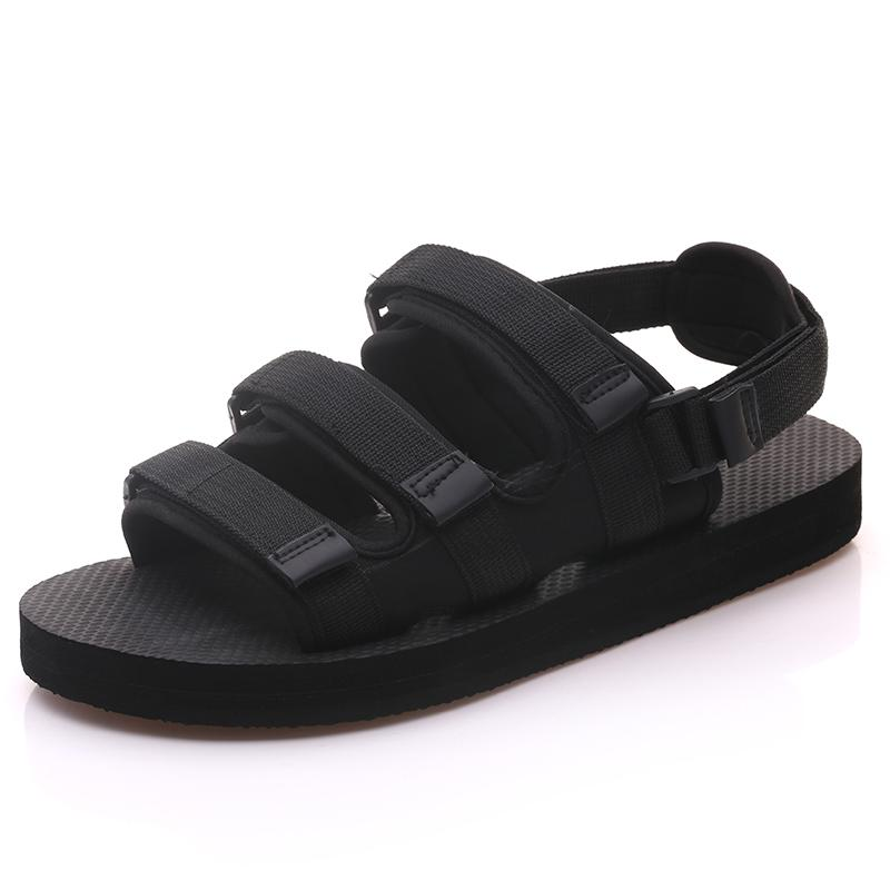 1b1fe89ea9eca1 Female Student 2018 New Summer Flat Beach Thick-soled Couple Sandals ...